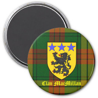 MacMillan Tartan Coat of Arms 7.5 Cm Round Magnet