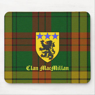 MacMillan Tartan Coat of Arms Mouse Pad