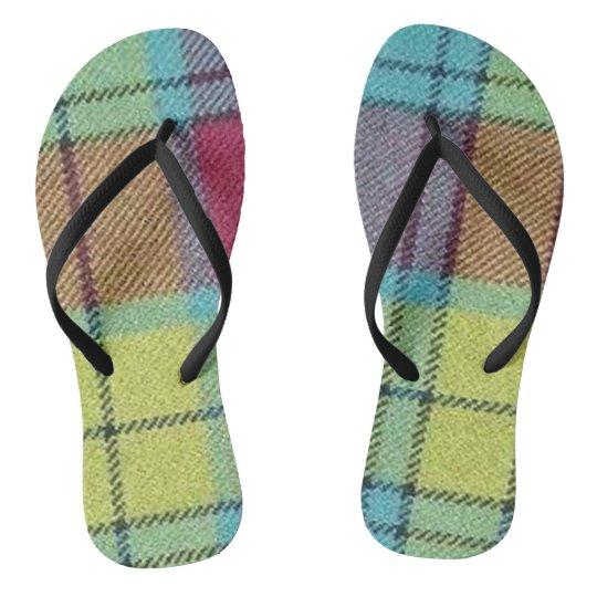 MacMillan Tartan Flip Flops