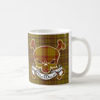 MacMillan Tartan Skull Basic White Mug