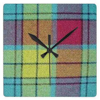 MacMillan Tartan Square Wall Clock