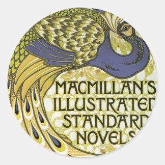 MacMillan's Peacock Edition Round Sticker