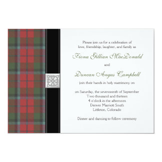 MacNaughton Weathered Tartan Wedding Invitation