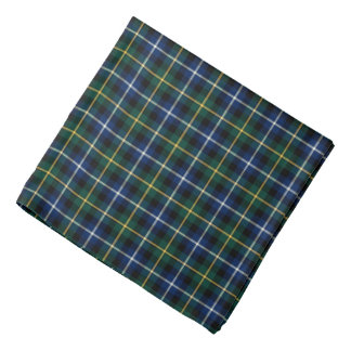 MacNeil Clan Tartan Black and Royal Blue Plaid Bandana