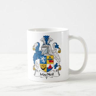 MacNeil Family Crest Basic White Mug
