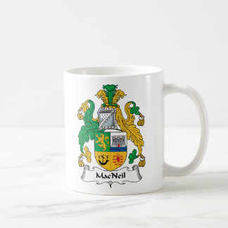 MacNeil Family Crest Classic White Coffee Mug
