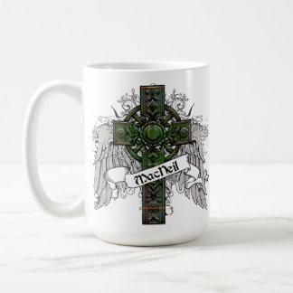 MacNeil Tartan Cross Basic White Mug