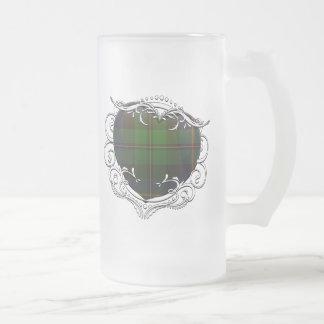 MacNeil Tartan Heart Frosted Glass Mug