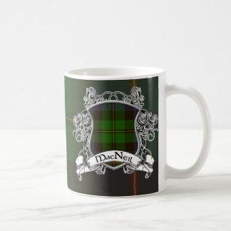 MacNeil Tartan Shield Basic White Mug