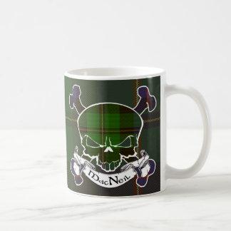 MacNeil Tartan Skull Basic White Mug