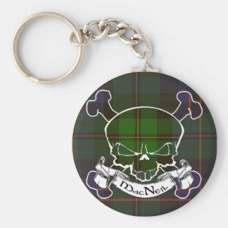 MacNeil Tartan Skull Key Ring