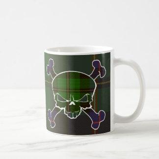 MacNeil Tartan Skull No Banner Basic White Mug