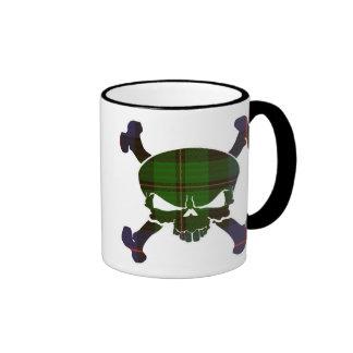 MacNeil Tartan Skull No Banner Ringer Mug