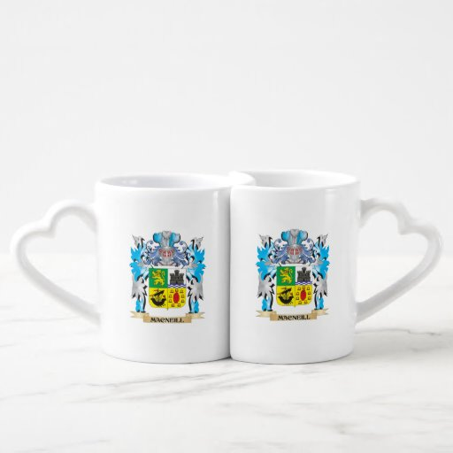 Macneill Coat of Arms - Family Crest Couple Mugs