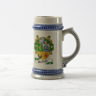 MacNeill Coat of Arms Stein - Family Crest Beer Steins