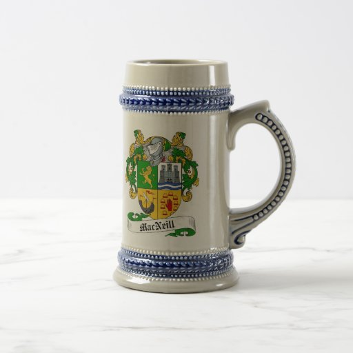 MacNeill Coat of Arms Stein - Family Crest Mugs