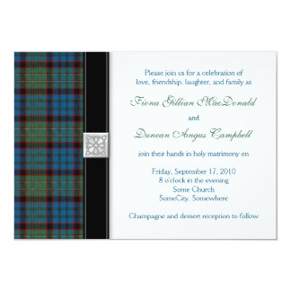 MacNicol Hunting Tartan Wedding Invitation