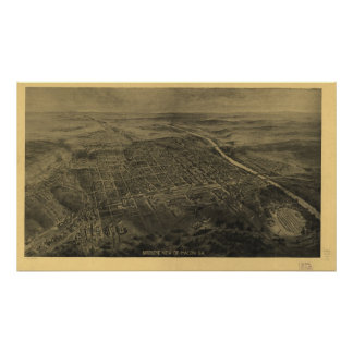 Macon Georgia 1912 Antique Panoramic Map Posters