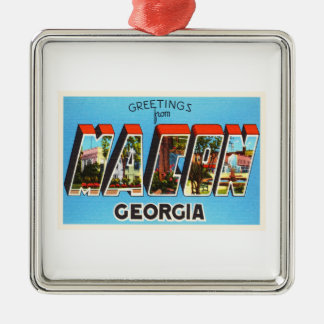 Macon Georgia GA Old Vintage Travel Souvenir Christmas Ornament