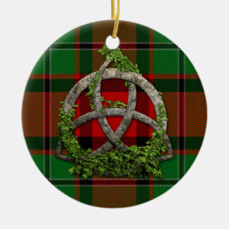 MacPhail Tartan And Celtic Trinity Knot Christmas Ornament