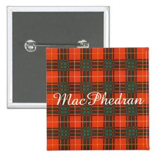 MacPhedran clan Plaid Scottish kilt tartan 15 Cm Square Badge