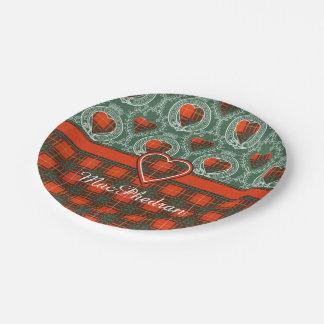 MacPhedran clan Plaid Scottish kilt tartan Paper Plate