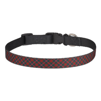 MacPherson Clan Red, Blue, and Green Tartan Pet Collar