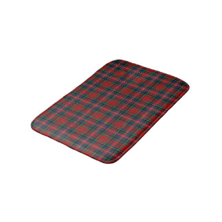 MacPherson Red and Blue Scottish Tartan Bath Mat
