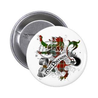 MacPherson Tartan Lion 6 Cm Round Badge
