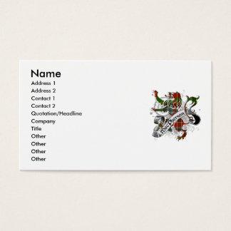 MacPherson Tartan Lion Business Card