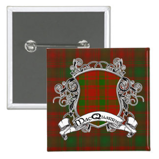 MacQuarrie Tartan Shield 15 Cm Square Badge