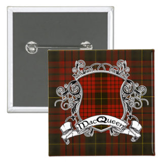 MacQueen Tartan Shield 15 Cm Square Badge