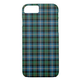 MacRae Clan Bright Blue and Green Hunting Tartan iPhone 8/7 Case