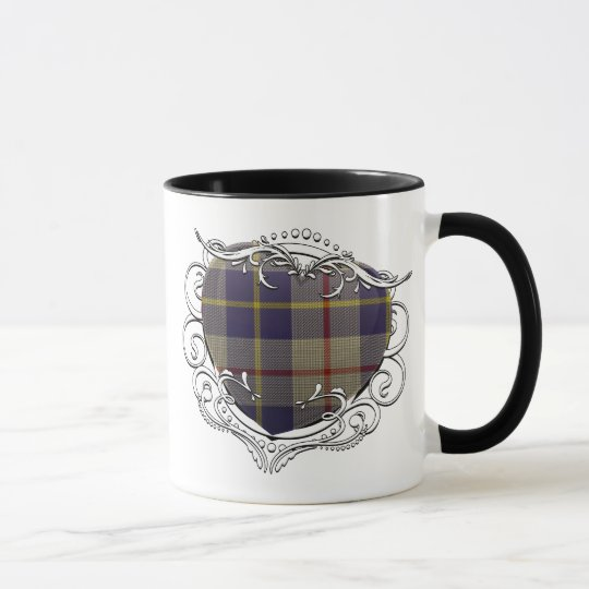 MacRae Tartan Heart Mug