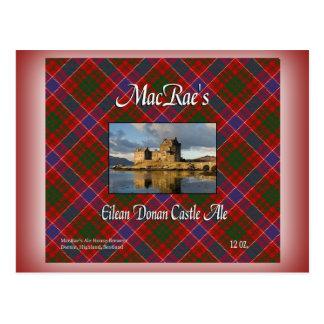 MacRae's Eilean Donan Castle Ale Postcards