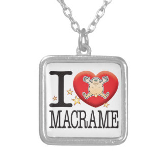 Macrame Love Man Silver Plated Necklace
