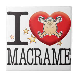 Macrame Love Man Small Square Tile