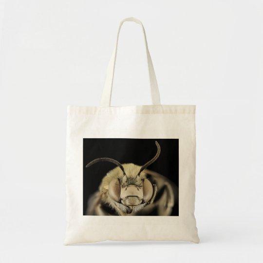 Macro Bee Image Tote Bag