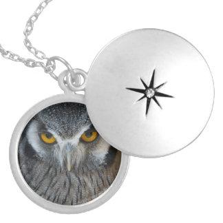 Macro Black and White Scops Owl Custom Jewelry