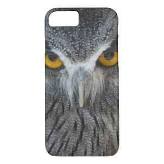 Macro Black and White Scops Owl iPhone 7 Case