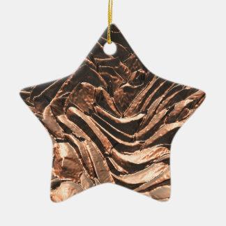 Macro Copper Abstract Ceramic Star Decoration