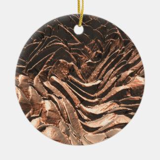 Macro Copper Abstract Round Ceramic Decoration