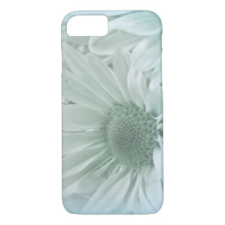 macro daisy in soft turquoise iPhone 7 case