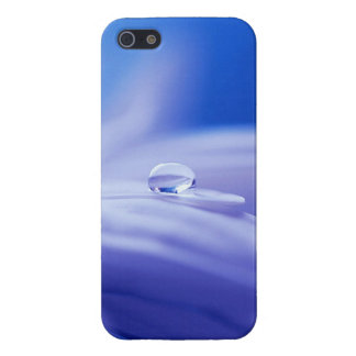 Macro Drop of Water on Blue Flower Photo Case For iPhone 5/5S