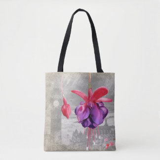 Macro flower Fuchsia Tote Bag