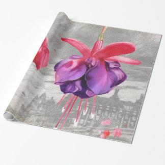 Macro Flower Fuchsia Wrapping Paper