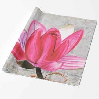 Macro Flower Lotus Wrapping Paper