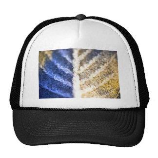 Macro Frosted Leaf Trucker Hats