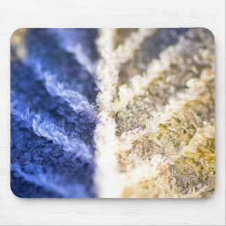 Macro Frosted Leaf Mouse Pad