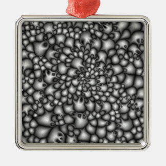 Macro Grey Clusters Silver-Colored Square Decoration